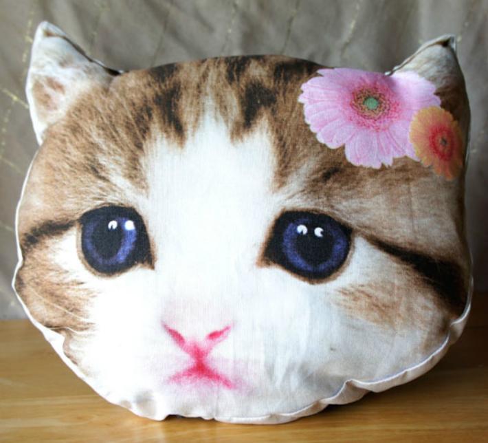超激安特価 子猫フェイスクッション 人気ブランド フラワー ネコ ねこ