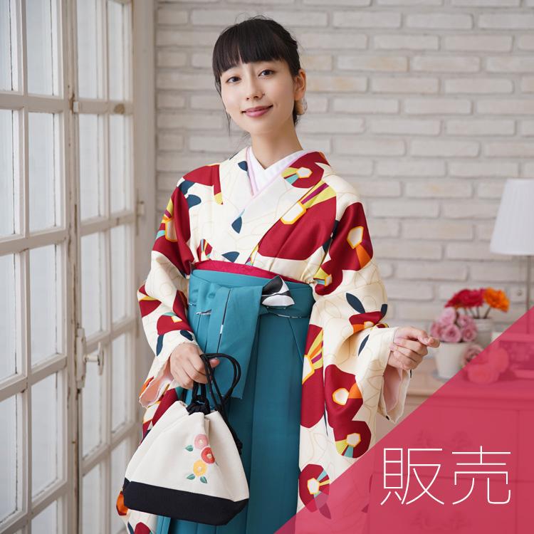 適応身長143cm~170cm前後♪ひよこ商店の袴2点セット レトロモダンな個性派袴。