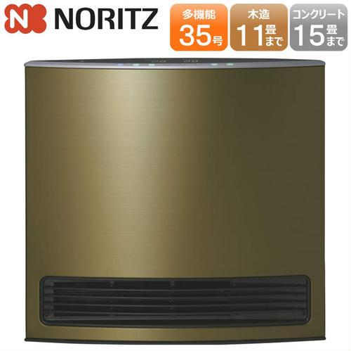 ノーリツ ガスファンヒーター デラックスタイプ GFH-4004D-G3(オリーブ)都市ガス12A・13A用 ※ガスコード別売