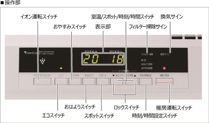 リンナイ ガスファンヒーター A-style(エースタイル)RC-N4001NP-CW(クロスホワイト)都市ガス12A・13A用 ※ガスコード別売