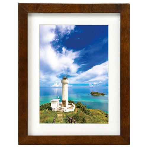 さまざまなお写真に合うシンプルな角形の写真用木製額縁スタンド付き。 ハクバ 木製額縁 MM-01 2Lサイズ スタンド付 ブラウン FWMM01-BR2L 4977187490862 フォトフレーム 写真立て 木製