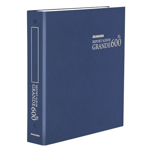 Lサイズを600枚収納できる大容量アルバム 送料無料 フォトアルバム 低価格 レポートアルバム GRANDE お値打ち価格で EL600 HAKUBA AGR600-LNV ネイビー 4977187519631 グランデEL600 ハクバ