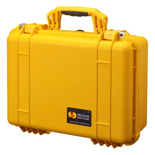 PELICANの中型防水ケース。高い防水性と頑丈な構造で大切な機材を保護します。 【送料無料】PELICAN(ペリカン) 1500HK イエロー 1500HKYL 4977187880892 中型防水ケース