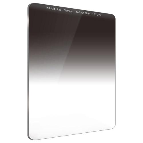 【エントリーでポイント10倍!】【送料無料】HAIDA(ハイダ)レッドダイヤモンド ソフトグラデーション ND0.9(8×) フィルター 75×100mm  6972288551397 減光 角形フィルターシステム ハーフND