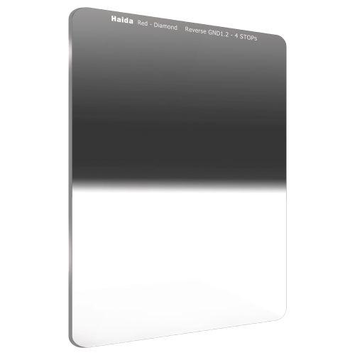 【エントリーでポイント10倍!】【送料無料】HAIDA(ハイダ)レッドダイヤモンド リバースグラデーション ND1.2(16×) フィルター 75×100mm  6972288551458 減光 角形フィルターシステム ハーフND