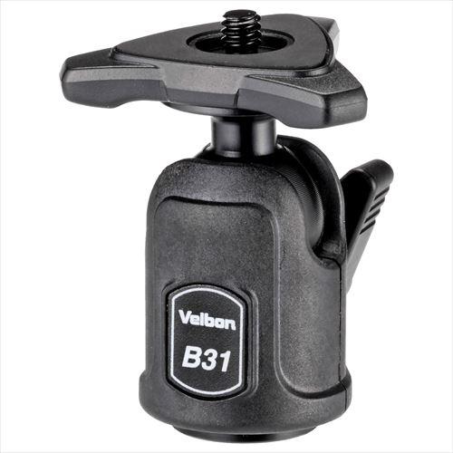 カメラを自由な方向に即座に向けることができる自由雲台 特殊樹脂パーツを採用し 軽量さと十分な固定力を備えた新シリーズ雲台です カメラ直付けタイプ エントリーでポイント5倍 ~9 11 土 01:59迄 アウトレット B31 ワンアクション 軽量自由雲台 超小型 ベルボン 代引き不可 訳あり特価 軽量 Velbon 4907990482129 2020秋冬新作