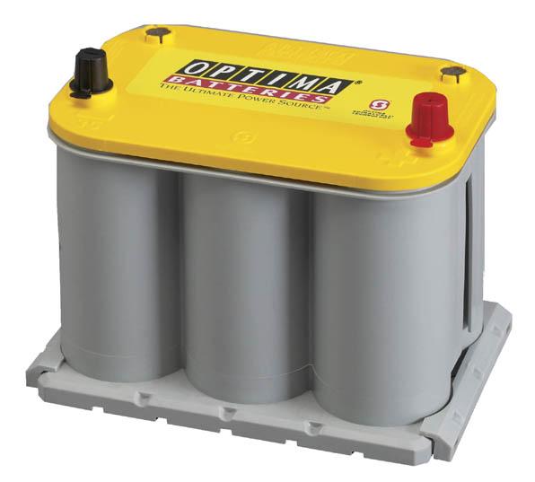 送料無料(沖縄離島除く)代引不可 オプティマ【YT925SL+GTP-037】(JIS規格105D23L) 高性能バッテリー(イエロートップ)+ハイトアダプター