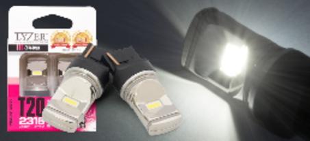 安心の3年保証!! 代引不可 LYZER(ライザー) バックランプ専用LEDバルブ T20 6500K 【LD-0064】