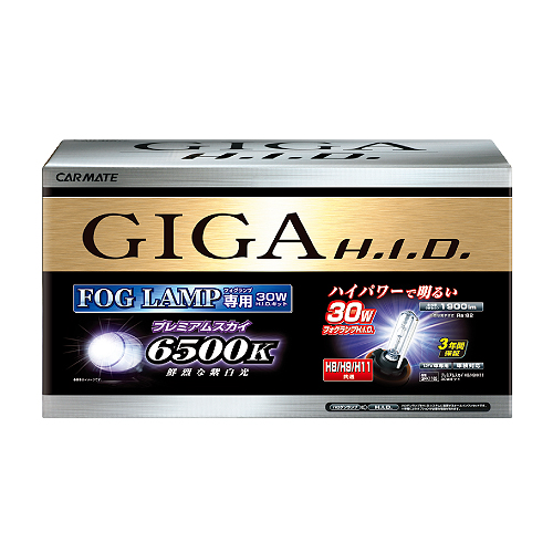 送料無料! GIGA HIDコンバージョンキット 6500K プレミアムスカイ H8/H9/H11【GFK1165】