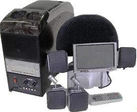 7インチモニター&DVDプレーヤー【FSN-8000】FUSION カーシアターセット4スピーカー3Dサウンドシステム レミックス