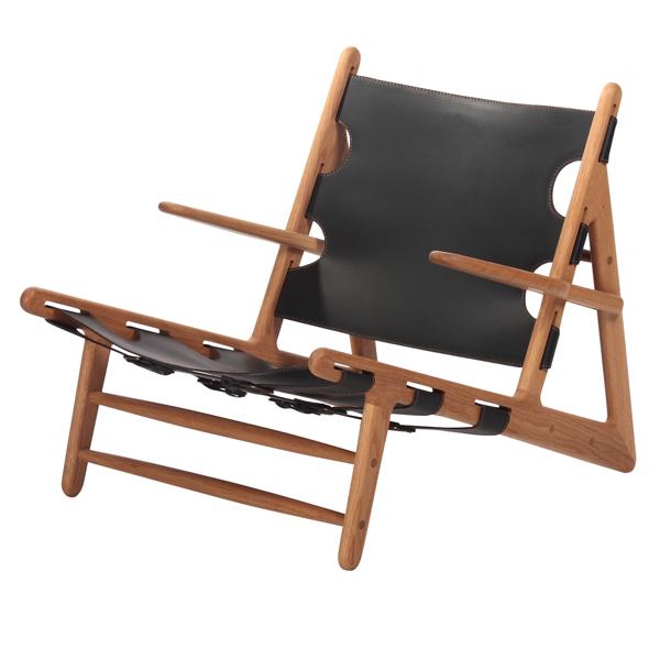 【受注生産対応:納期約45-90日】ハンティングチェア レザー 一人掛け 椅子 ラウンジチェア