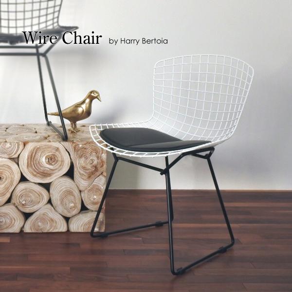 「700円割引レビュークーポン配布中」【コンビ】Wire Chair/ワイヤーチェア(座面ホワイト/脚ブラック)【送料無料】 デザイナーズ 家具 イームズチェア ミーティングチェアTwo-Tone ツートーン
