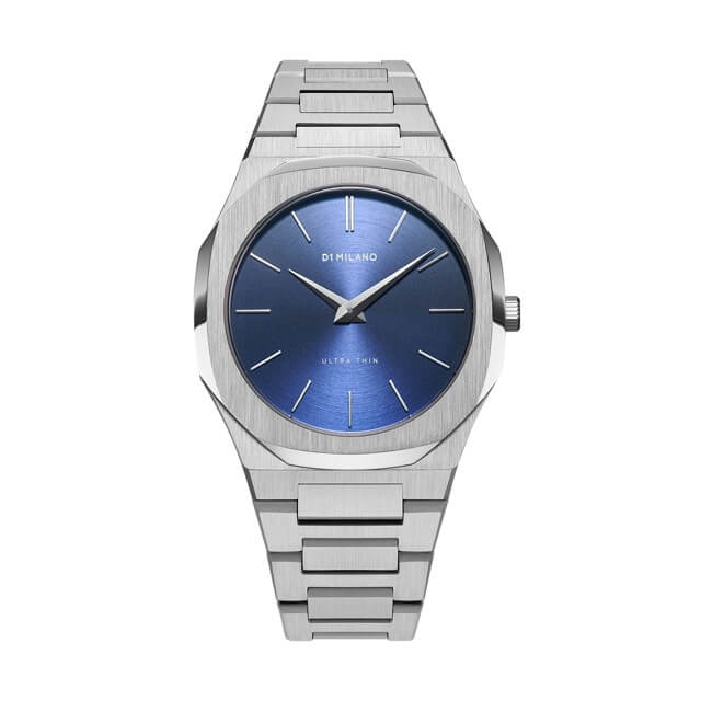 ディーワンミラノ D1 MILANO Ultra Thin Gems Collection Sapphire Blue Soleil dial with stainless steel bracelet 腕時計 メンズ