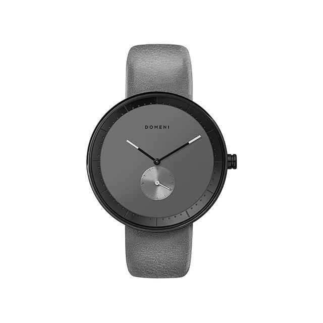 ドメニ コー DOMENI CO gl01-32 32mm シグニチャーシリーズ - グレー レザー 腕時計 時計 レディース