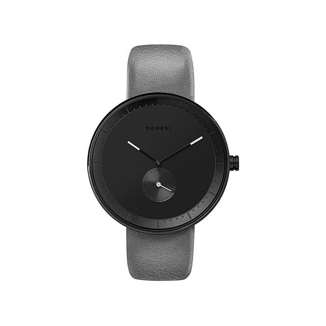 ドメニ コー DOMENI CO gl02-32 32mm シグニチャーシリーズ - グレー レザー 腕時計 時計 レディース