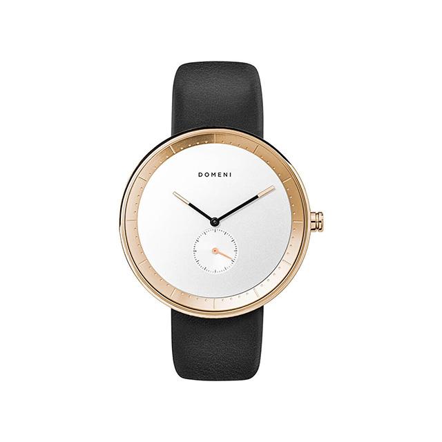 ドメニ コー DOMENI CO gll01-32 32mm シグニチャーシリーズ - ブラック レザー 腕時計 時計 レディース