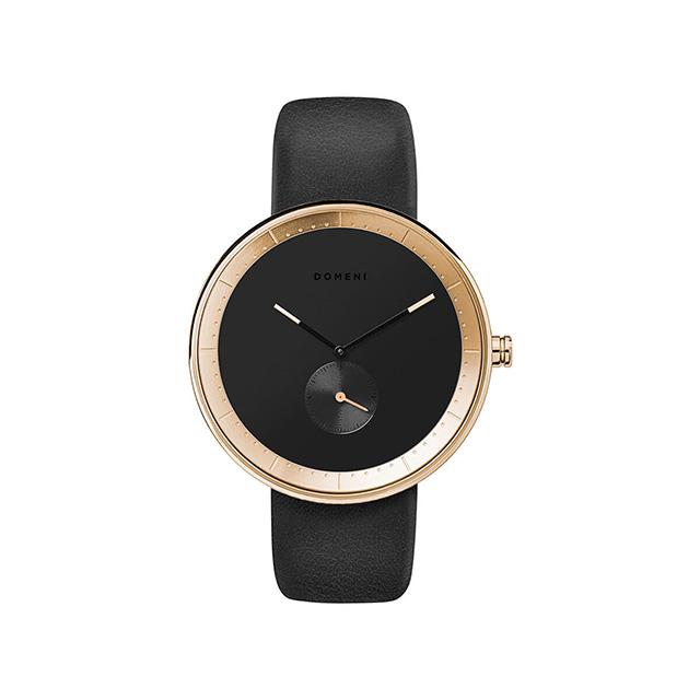ドメニ コー DOMENI CO gll02-32 32mm シグニチャーシリーズ - ブラック レザー 腕時計 時計 レディース