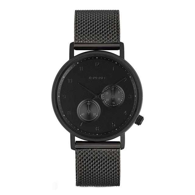 コモノ KOMONO ワルサー ブラックメッシュ [WALTHER - BLACK MESH] 腕時計 メンズ レディース