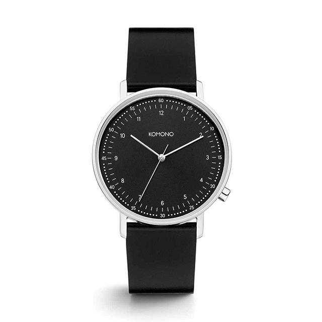 コモノ KOMONO ルイス ブラック シルバー [LEWIS BLACK SILVER] 腕時計 メンズ レディース