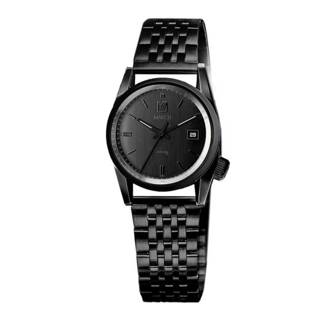 マーチエルエービー 腕時計 時計 メンズ MARCH LA.B Seventy S 0 - Acier Vintage Noir
