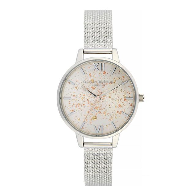 オリビアバートン レディース 腕時計 時計 Olivia Burton セレスティアル シルバー グリッター シルバー ブークレ メッシュ