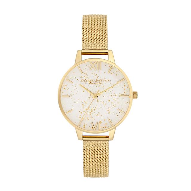 オリビアバートン レディース 腕時計 時計 Olivia Burton セレスティアル ゴールド グリッター ゴールド ブークレ メッシュ
