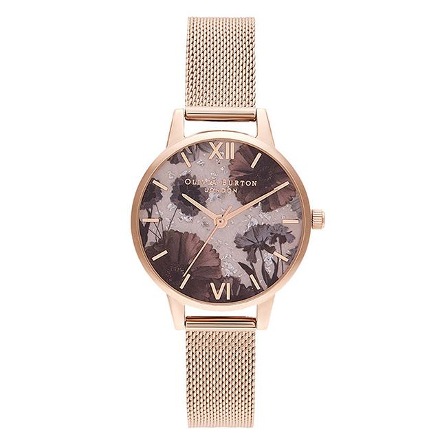 オリビアバートン レディース 腕時計 時計 Olivia Burton セレスティアル ローズクォーツ & パール ローズゴールド