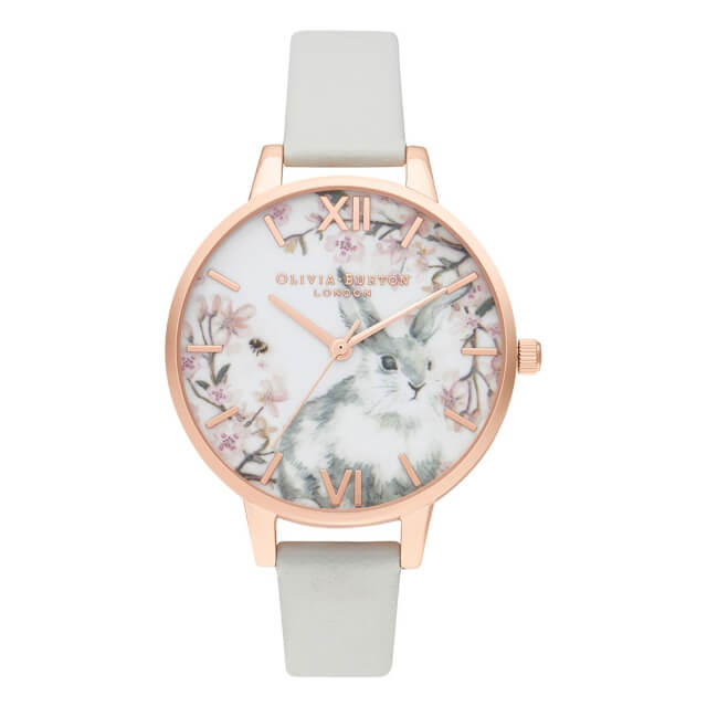 """オリビアバートン レディース 腕時計 時計 Olivia Burton プリティブロッサム デミ ビーガン グレイ & ローズゴールド:H°M'S"""" WatchStore"""