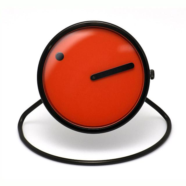 ピクト【PICTO】Picto 45 mm オレンジ ポリッシュド スティール ベゼル 置き時計