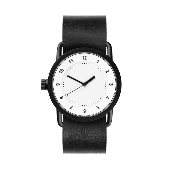 ティッド ウォッチ 時計 腕時計 【TID Watches】 No.1 White / Black Leather Wristband 36