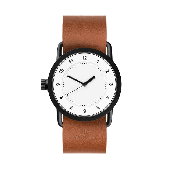 ティッド ウォッチ 時計 腕時計 【TID Watches】 No.1 White / Tan Leather Wristband 36