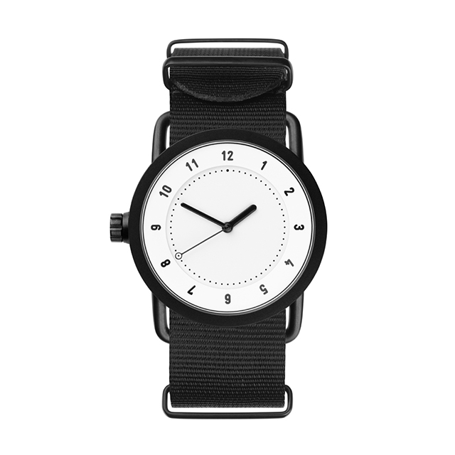 ティッド ウォッチ 時計 腕時計 【TID Watches】 No.1 White / Black Nylon Wristband 36