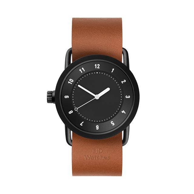 ティッド ウォッチ 時計 腕時計 【TID Watches】 No.1 Black / Tan Leather Wristband 36