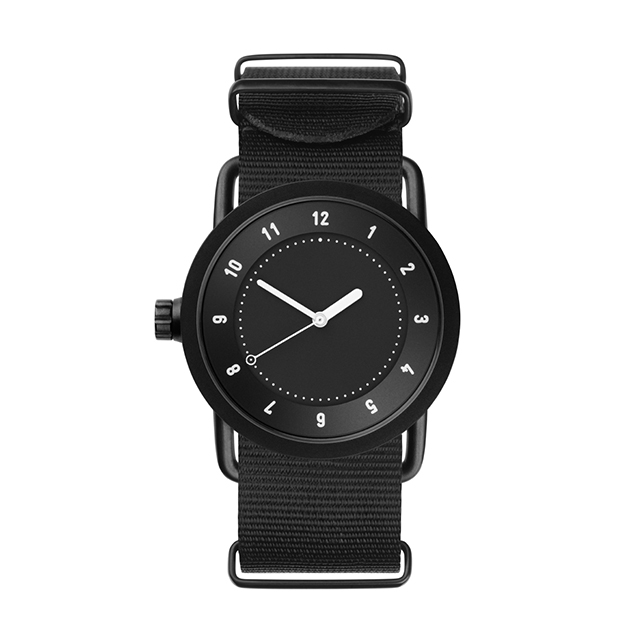 ティッド ウォッチ 時計 腕時計 【TID Watches】 No.1 Black / Black Nylon Wristband 36