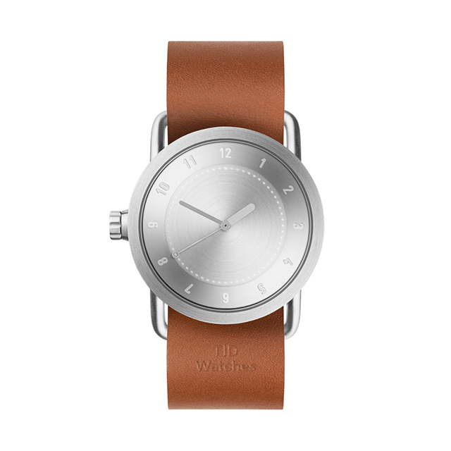 ティッド ウォッチ 時計 腕時計 【TID Watches】 No.1 Steel / Tan Leather Wristband 36