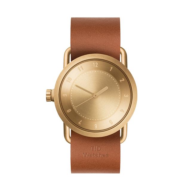ティッド ウォッチ 時計 腕時計 【TID Watches】 No.1 Gold / Tan Leather Wristband 36