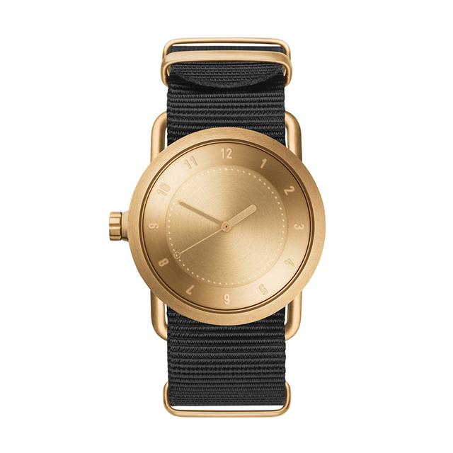 ティッド ウォッチ 時計 腕時計 【TID Watches】 No.1 Gold / Black Nylon Wristband 36