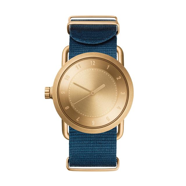 ティッド ウォッチ 時計 腕時計 【TID Watches】 No.1 Gold / Blue Nylon Wristband 36