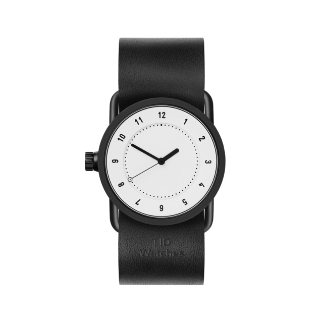 ティッド ウォッチ 時計 腕時計 【TID Watches】 No.1 White / Black Leather Wristband 33