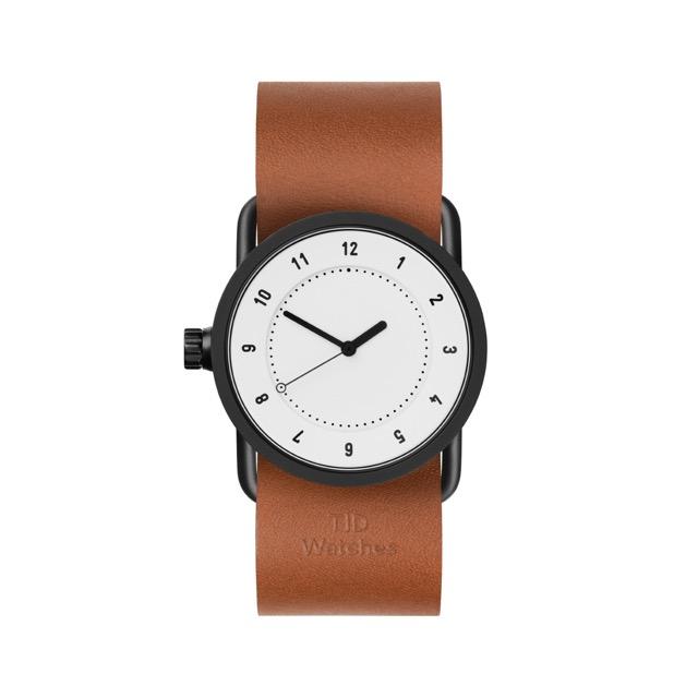 ティッド ウォッチ 時計 腕時計 【TID Watches】 No.1 White / Tan Leather Wristband 33