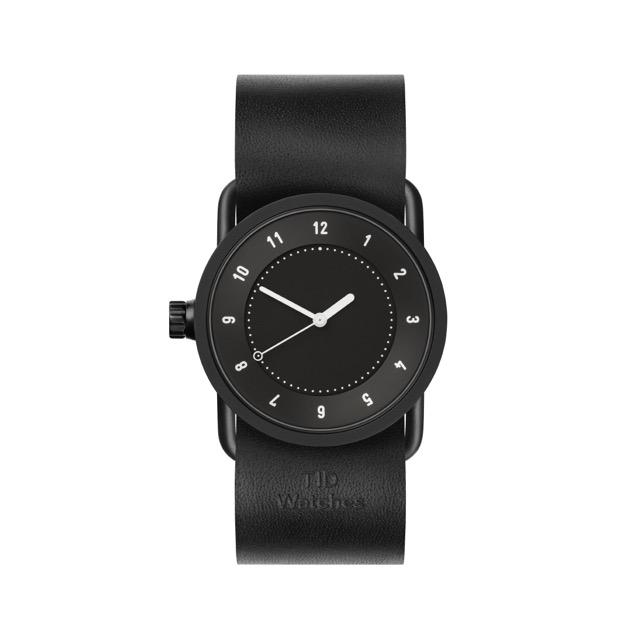 ティッド ウォッチ 時計 腕時計 【TID Watches】 No.1 Black / Black Leather Wristband 33