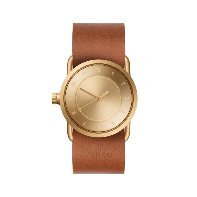 ティッド ウォッチ 時計 腕時計 【TID Watches】 No.1 Gold / Tan Leather Wristband 33