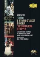【送料無料】 Monteverdi モンテベルディ / 『オルフェオ』、『ウリッセの帰還』、『ポッペアの戴冠』 ポネル演出・監督、アーノンクール指揮(5DVD) 【DVD】