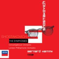 【送料無料】 Shostakovich ショスタコービチ / 交響曲全集 ハイティンク&コンセルトヘボウ、ロンドン・フィル、他(11CD) 輸入盤 【CD】