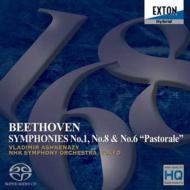 【送料無料】 Beethoven ベートーヴェン / 交響曲第1番、第6番、第8番 アシュケナージ&NHK交響楽団(ダイレクト・カットSACD) 【SACD】