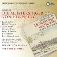【送料無料】 Wagner ワーグナー / 『ニュルンベルクのマイスタージンガー』全曲 ヘルベルト・フォン・カラヤン&シュターツカペレ・ドレスデン、テオ・アダム、ルネ・コロ、他(1970 ステレオ)(4CD) 輸入盤 【CD】