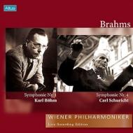 【送料無料】 Brahms ブラームス / 交響曲第1番(ベーム指揮、1954)、第4番(シューリヒト指揮、1965) ウィーン・フィル(2LP) 【LP】