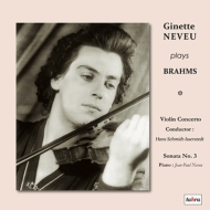 【送料無料】 Brahms ブラームス / ヴァイオリン協奏曲、ヴァイオリン・ソナタ第3番 ジネット・ヌヴー、シュミット=イッセルシュテット & 北ドイツ放送交響楽団、他 (2枚組 / 180グラム重量盤レコード) 【LP】