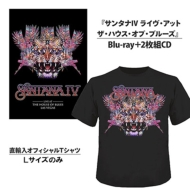 【送料無料】 Santana サンタナ / SANTANA IV LIVE AT THE HOUSE OF BLUES(+CD+Tシャツ[Lサイズのみ])(限定盤) 【BLU-RAY DISC】