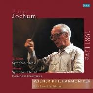 【送料無料】 Brahms ブラームス / ブラームス:交響曲第2番、モーツァルト:ジュピター、フリーメイソンのための葬送音楽 ヨッフム&ウィーン・フィル(1981)(国内プレス / 2枚組アナログレコード) 【LP】